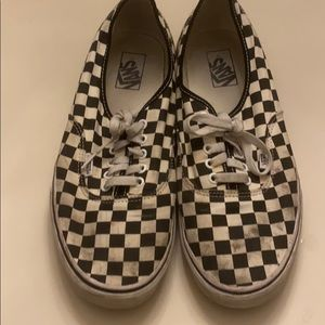 Men's checkered vans authentic